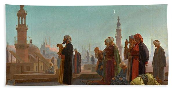 Evening Prayer, Cairo, 1865 Beach Towel