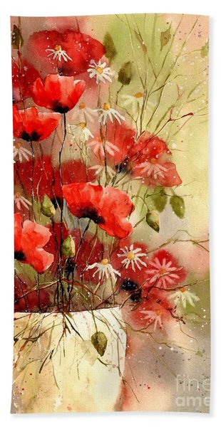 Everything About Poppies IIi Beach Towel