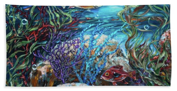 Festive Reef Beach Towel