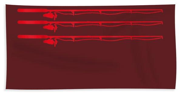 Fishing Rod T Shirt American Usa Flag - Fisherman Gift Idea Beach Towel