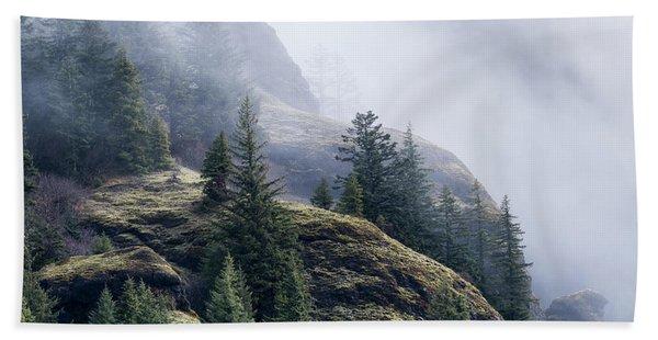 Foggy On Saddle Mountain Beach Towel