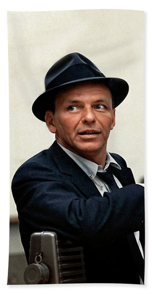 Frank Sinatra At Capitol Records, 1953 Beach Towel