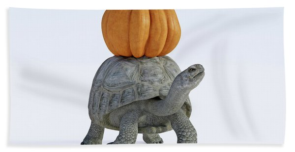 Friends The Tortoise And The Pumpkin Beach Towel