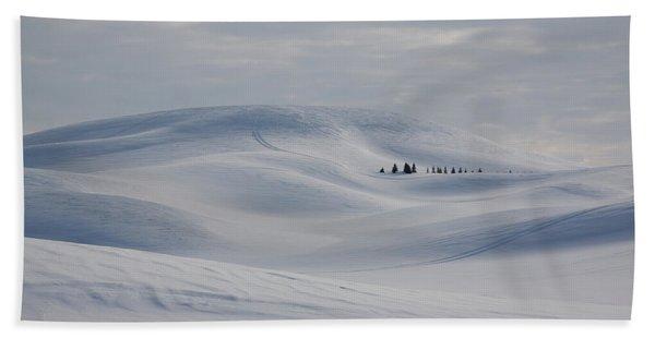 Frozen Winter Hills Beach Towel