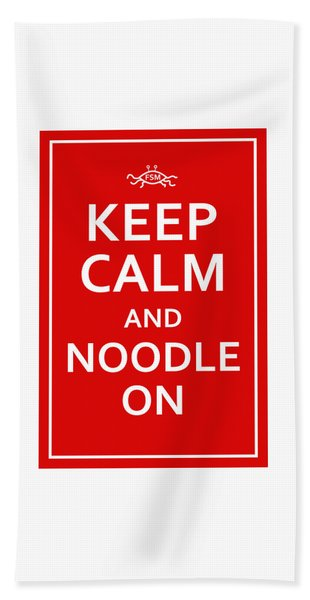 Fsm - Keep Calm And Noodle On Beach Sheet