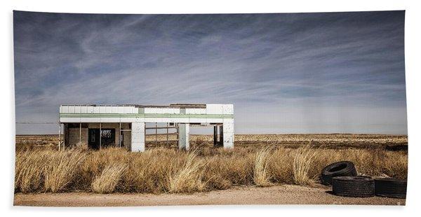Glenrio Abandoned Gas Station  Beach Towel