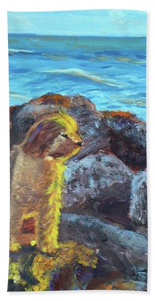 Golden Dog Beach Towel