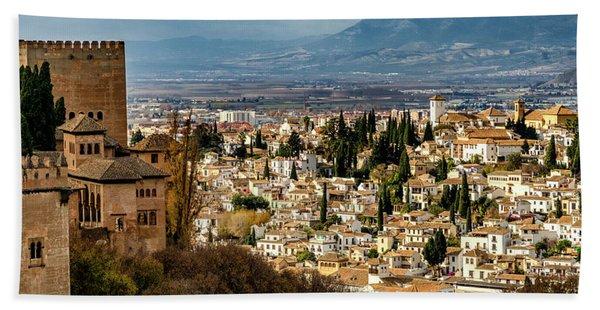 Granada And La Alhambra Beach Towel