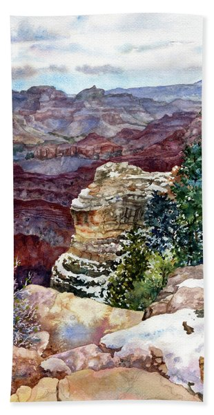 Grand Canyon Winter Day Beach Towel