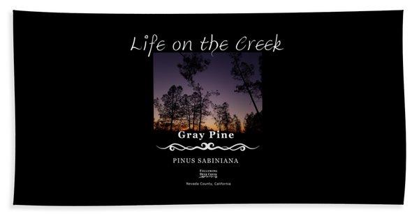 Gray Pine Beach Towel