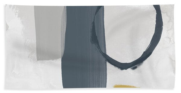 Grayscale 2- Abstract Art By Linda Woods Beach Towel