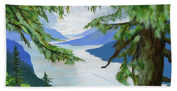 Guided Through The Fjords Beach Towel