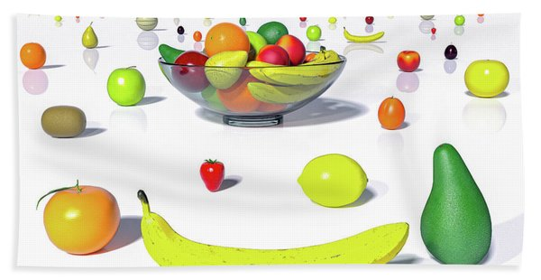 Happy Fruit Beach Towel