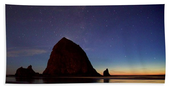 Haystack Night Sky Beach Towel