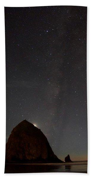 Haystack Night Under The Stars Beach Towel