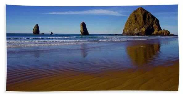 Haystack Rock Panoramic Beach Towel