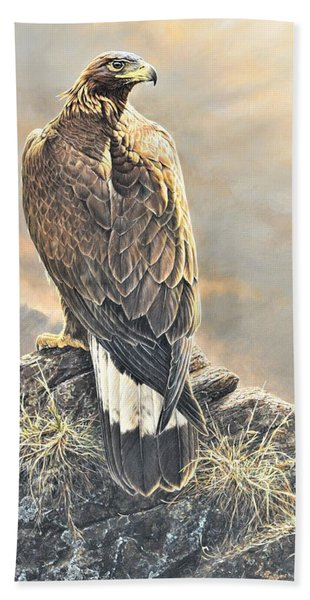 Highlander - Golden Eagle Beach Towel