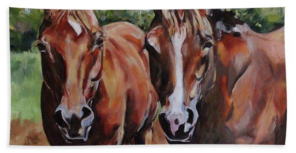 Horse Art  Beach Towel