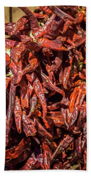 Hot Spicy Peppers Beach Towel
