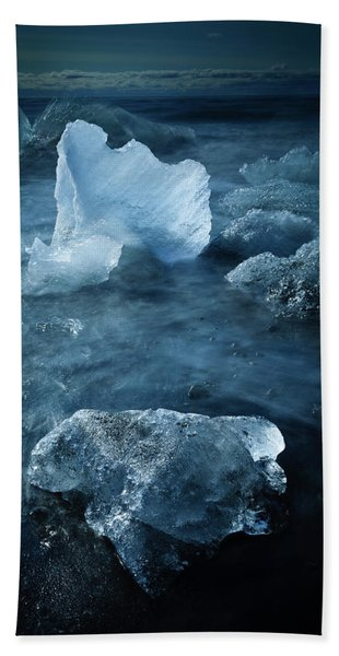 Ice Shells Beach Towel