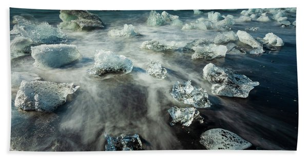 Iceberg Beach Beach Towel