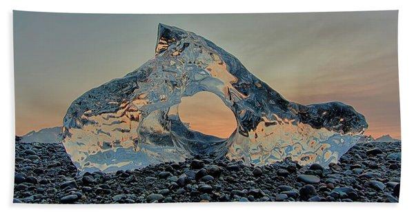 Iceland Diamond Beach Abstract  Ice Beach Towel