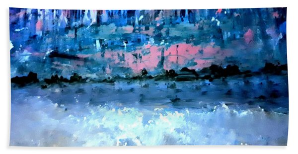 Icy Lake Beach Towel