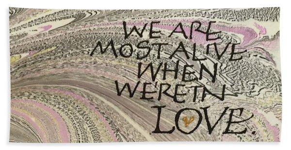 In Love Beach Sheet