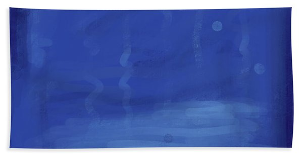 In The Blue Water Beach Towel