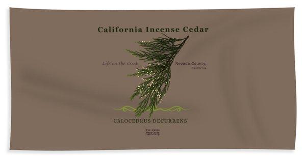 Incense Cedar - Brpwn Text Beach Towel