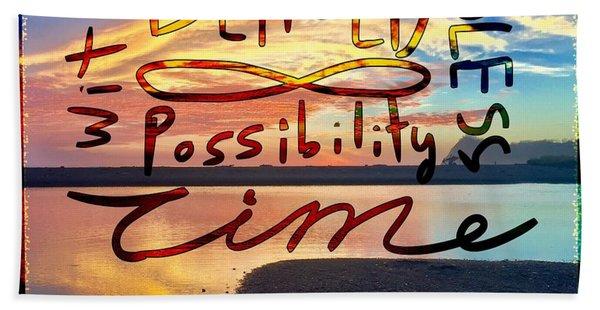 Infinite Possibility Beach Sheet
