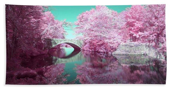 Infrared Bridge Beach Towel