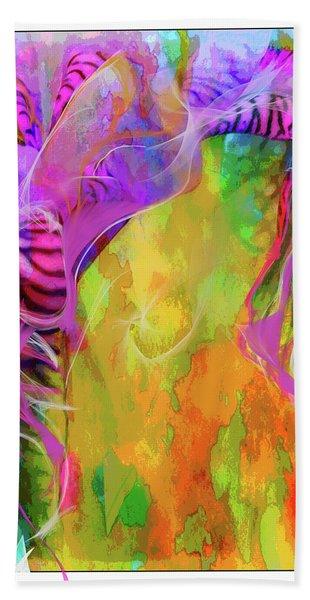 Iris Psychedelic  Beach Towel