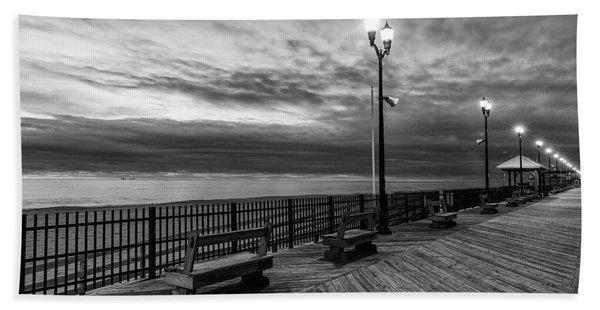 Jersey Shore In Winter Beach Towel