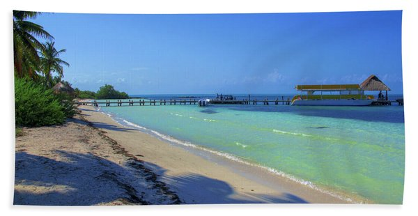 Jetty On Isla Contoy Beach Towel