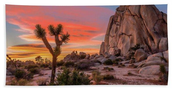 Joshua Tree Sunset Beach Towel