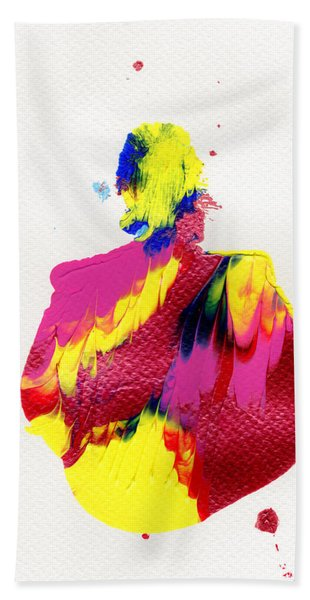 Lady Dressed In A Ballroom Gown Beach Towel