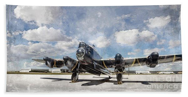 Lancaster Engine Test 2 Beach Towel