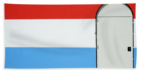 Las Croabas - Red White And Blue Beach Towel