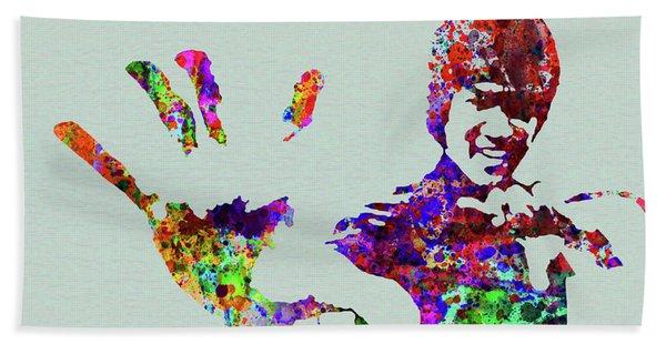 Legendary Bruce Lee Watercolor Beach Towel