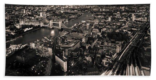 London At Night Beach Sheet