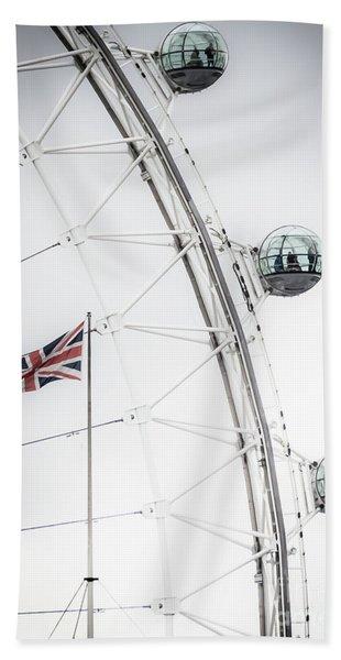 London Eye And Union Jack Beach Towel