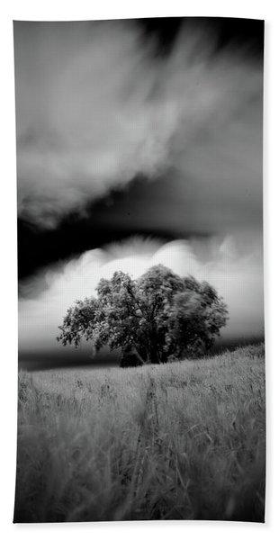 Lone Tree On A Hill Beach Towel