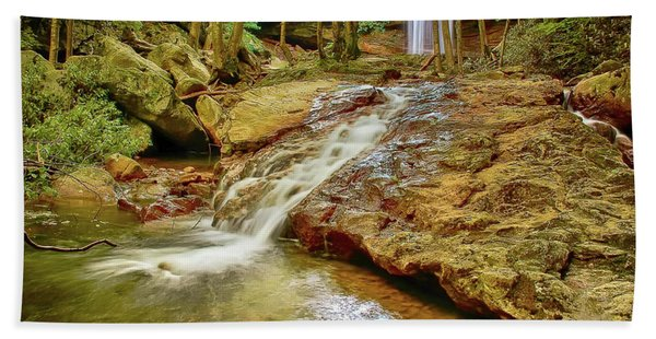 Long Falls Beach Towel