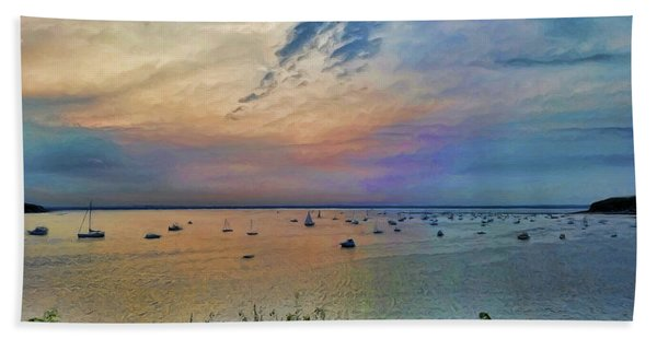 Long Island Sound From Glen Cove Beach Towel