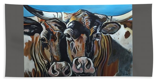 Longhorns, Interrupted Beach Towel