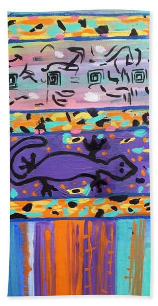 Lounge Lizard Beach Towel