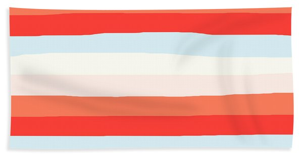 lumpy or bumpy lines abstract and colorful - QAB268 Beach Sheet