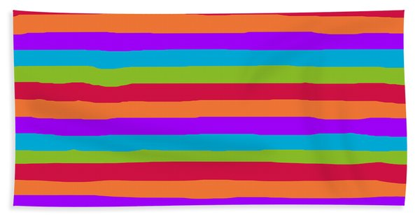 lumpy or bumpy lines abstract and summer colorful - QAB273 Beach Sheet