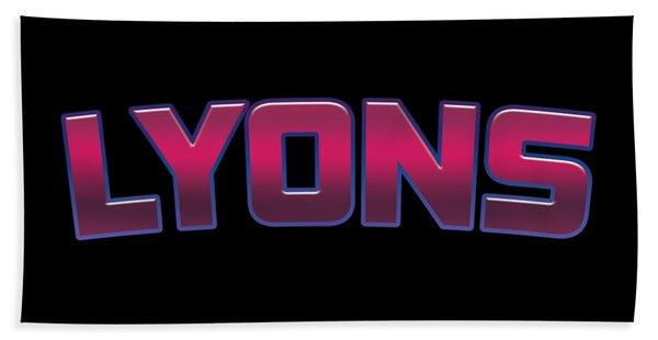 Lyons #lyons Beach Towel